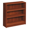 HON 1870 Series Bookcase, Three Shelf, 36w x 11 1/2d x 36 1/8h, Cognac