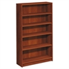 HON 1870 Series Bookcase, Five Shelf, 36w x 11 1/2d x 60 1/8h, Cognac