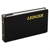 "6-Ring Ledger Binder, Round-Ring, 1"" Capacity, 10 1/2 x 5 5/8, Black"
