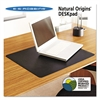 Natural Origins Desk Pad, 24 x 19, Matte, Black