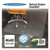 ES Robbins Natural Origins Chair Mat For Hard Floors, 46 x 60, Clear