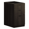 basyx BL Laminate Three Drawer Pedestal File, 15 5/8 x 21 3/4 x 27 3/4, Espresso
