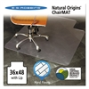 ES Robbins Natural Origins Chair Mat With Lip For Hard Floors, 36 x 48, Clear