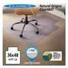 ES Robbins Natural Origins Chair Mat With Lip For Carpet, 36 x 48, Clear