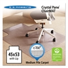 ES Robbins Crystal Pane Ergonomic Chair Mat for Medium Pile Carpet, 45 x 53, Clear