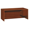 HON 10700 Series Single 3/4 Right Pedestal Desk, 72w x 36d x 29 1/2h, Cognac