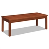 HON Laminate Occasional Table, Rectangular, 48w x 20d x 16h, Cognac
