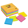 Post-it Pads in Rio de Janeiro Colors, 3 x 3, 90-Sheet, 24/Pack