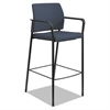 HON Accommodate™ Series Café Stool with Fixed Arms, Cerulean Fabric