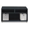 Mayline e5 Series Open Storage Cabinet, 30w x 18d x 21 3/4h, Raven