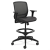 Quotient Series Mesh Mid-Back Task Stool, Black