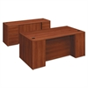 10700 Double Pedestal Desk with Full Pedestals, 72w x 36d x 29 1/2h, Cognac