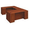 HON 10700 Single Pedestal Desk, Full Right Pedestal, 72w x 36d x 29 1/2h, Cognac