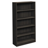 basyx BL Laminate Series Five Shelf Bookcase, 32w x 13 13/16d x 65 3/8h, Espresso