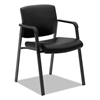 basyx VL605 Guest Chair, Black Leather