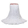 MaxiSorb #24 Cut-End Mop Heads, 10 x 17, White