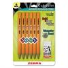 Zebra Cadoozles Starter Mechanical Pencil, 2.0 mm, Yellow Barrels, 6/Pack