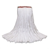 O-Cedar Commercial MaxiSorb #24 Cut-End Mop Heads, 10 x 17, White, 12/Carton