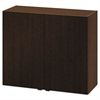Hospitality Wall Cabinet, Two Doors, 36w x 14d x 30h, Mocha