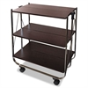 Click-N-Fold Utility Cart, 26 1/2w x 15 3/4d x 31 1/2h, Chrome/Brown