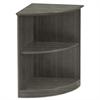 Medina Series Quarter Round Two-Shelf Bookcase, 20w x 13d x 29 1/2h, Gray Steel