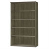 Medina Series Laminate Five-Shelf Bookcase, 36w x 13d x 68h, Gray Steel