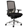 Mayline Gist Task Plus+ Chair, Black/Silver