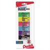 Pentel Hi-Polymer Block Eraser, Assorted, 6/Pack