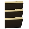 Storex Wall File, Legal 16 x 14, Three Pocket, Smoke