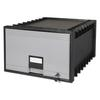 "Archive Drawer for Legal Files Storage Box, 24"" Depth, Black/Gray"