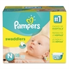 Pampers Swaddlers Diapers, Newborn: 4 - 10 lbs, 128/Carton