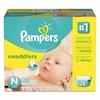 Swaddlers Diapers, Newborn: 4 - 10 lbs, 128/Carton