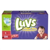 Diapers w/Leakguard, Size 1: 8 to 14 lbs, 104/Carton