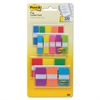 "Post-it 1/2"" and 1"" Page Flag Value Pack, Nine Assorted Colors, 320/Pack"