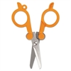 "Folding Scissors, 4"" Long, Double-Loop Handle, Orange"
