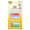 "Post-it Arrow 1/2"" Prioritization Page Flags, Red/Yellow/Green, 100/Pack"