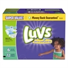 Luvs Diapers w/Leakguard, Size 6: 35 to 43 lbs, 72/Carton