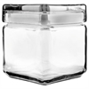Office Settings Stackable Glass Storage Jars, 1 qt, Glass