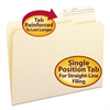 Smead Guide Height File Folders, 2/5 Cut, Two-Ply Top Tab, Letter, Manila, 100/Box
