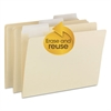 Smead FlexiFolder Heavy Folders with Movable Tabs, Manila, 1/3 Cut, Letter, 12/Pack