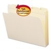 File Folders, 1/5 Cut, Reinforced Top Tab, Letter, Manila, 100/Box