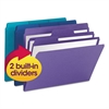 Smead SuperTab Organizer Folder, 1/3 Cut Top Tab, Assorted, 3/Pack