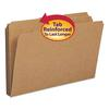 Kraft File Folders, 1/3 Cut, Reinforced Top Tab, Legal, Kraft, 100/Box