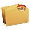 File Folders, 1/3 Cut, Reinforced Top Tab, Legal, Goldenrod, 100/Box