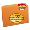 Smead File Folders, Straight Cut, Reinforced Top Tab, Legal, Orange, 100/Box