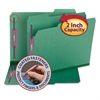 Colored Pressboard Fastener Folders, Letter, 1/3 Cut, Green, 25/Box