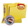 Colored Pressboard Fastener Folders, Letter, 1/3 Cut, Yellow, 25/Box