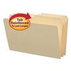 File Folders, 1/2 Cut, Reinforced Top Tab, Legal, Manila, 100/Box