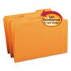 File Folders, 1/3 Cut, Reinforced Top Tab, Legal, Orange, 100/Box