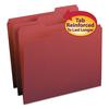 File Folders, 1/3 Cut, Reinforced Top Tab, Letter, Maroon, 100/Box